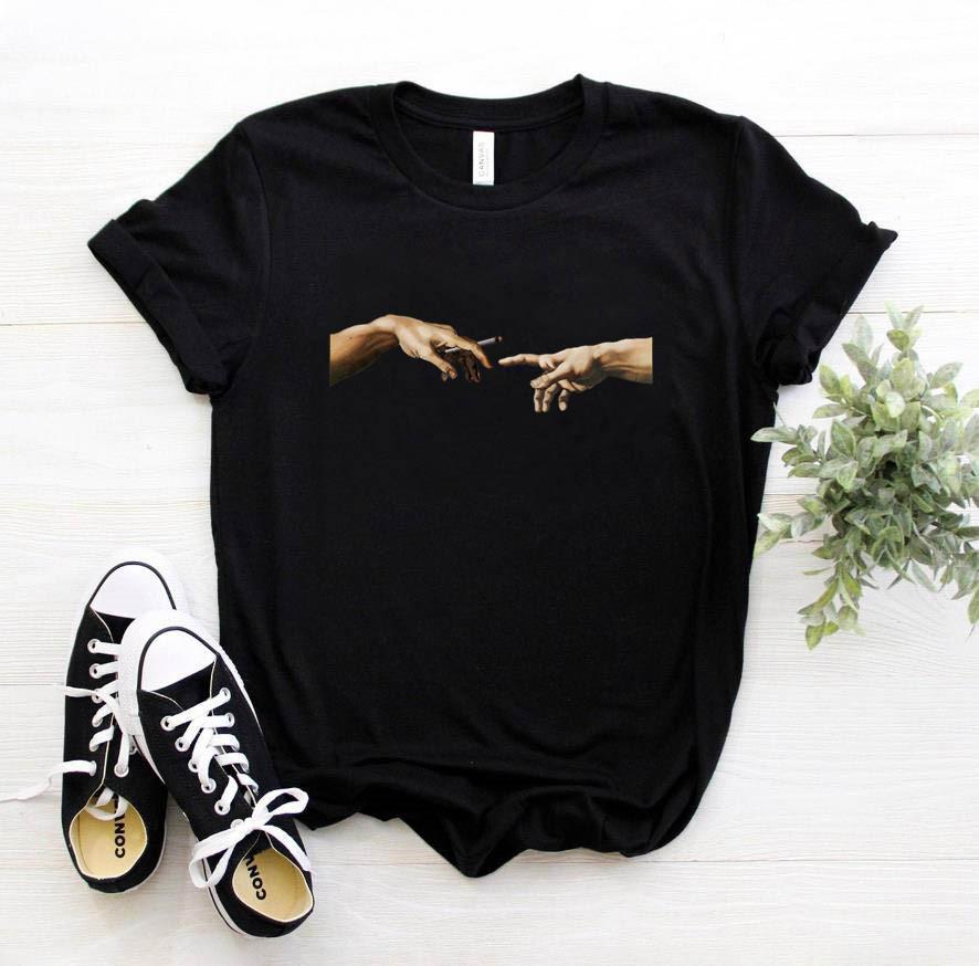 2020 Tees Women T Shirt Print Letter T shirt Casual White Black Pink Short Sleeve Cotton Tops Summer Brand clothing