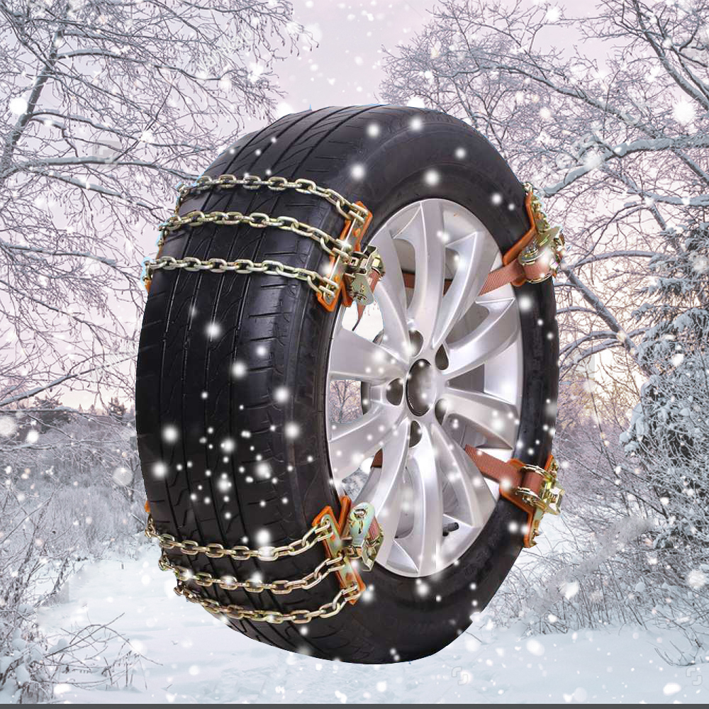 1Pcs / 3Pcs 3 Anti-skid Chains Balance Design Manganese Steel Wear Resistant Universal For Snow Ice Sand Mud Road Safe Driving