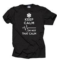 Подарок для парамедика надпись «Keep Calm OK Not That Calm» футболка EMT забавная занятая футболка S