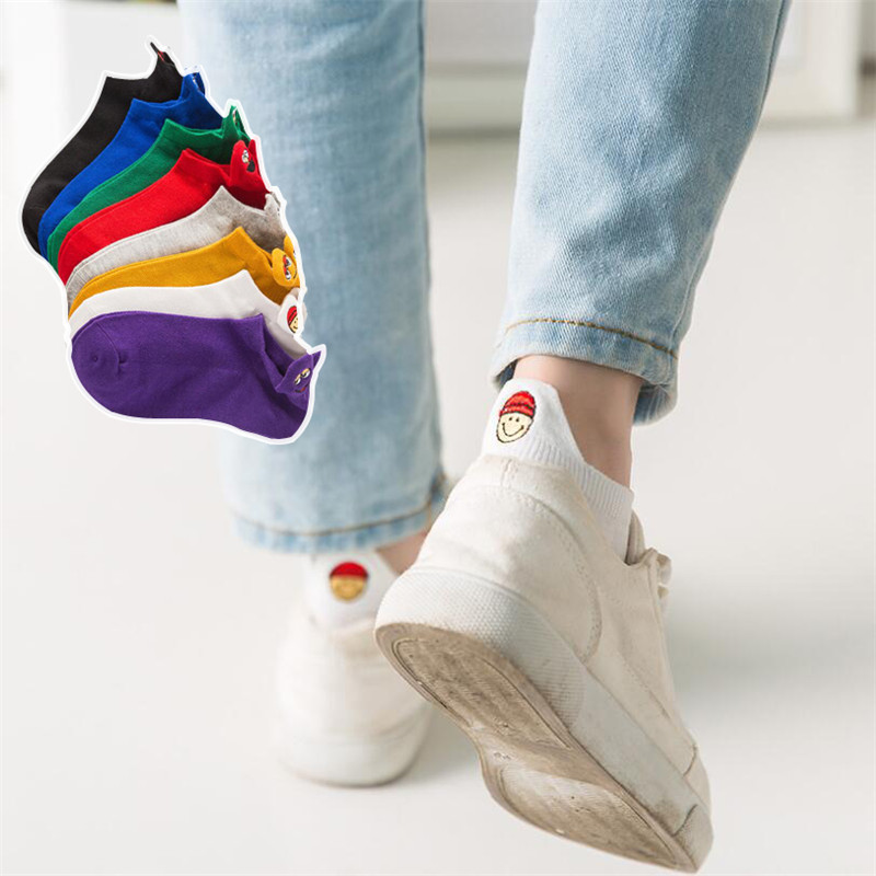 Hot Sale! Men Socks Cotton Low Ankle Spring Summer And Autumn Colorful Funny Sock Men And Male Black Cartoon Sock