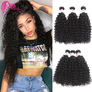 Image 2 - Beauty Forever Curly Malaysian Hair Weave Bundles 3 Piece lot Remy Human Hair Weaving Natural Color 8 26inch Free Shipping