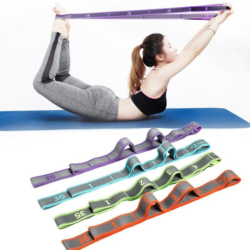 Yoga Fitness Pull Rope Resistance Bands Latex Elastic Stretch Training Workout SportsYoga Tension Band Exercise Equipment