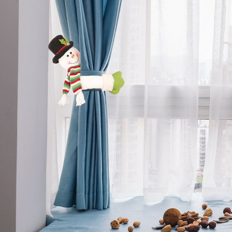 Gifts Snowman Curtain Tieback Buckle Holder Window Strap Christmas Decoration