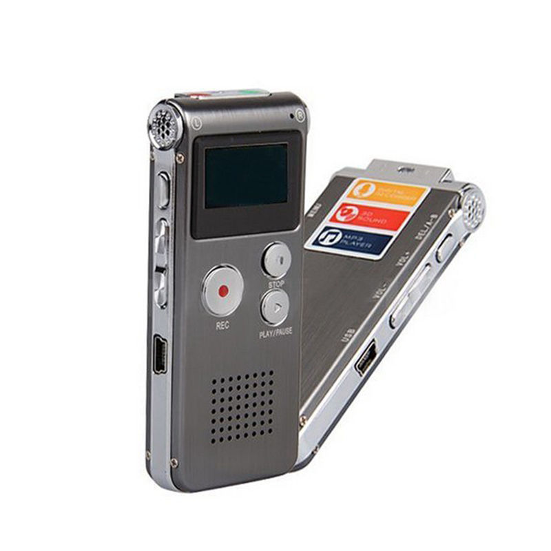 16GB Digital Voice Recorder Mini USB Flash Digital Audio Voice Recording 650Hr Dictaphone MP3 Player MP3 Player Rechargeable