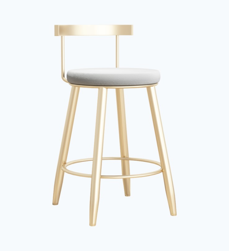 Bar Chair Nordic Net Red Gold Simple Modern Bar Milk Tea Cafe Light Luxury Home Wrought Iron High Stool