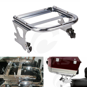 Image 2 - OUMURS Motorcycle Luggage Rack Detachable 2 up Tour Pak Pack Mount For Harley Touring Electra Street Road Glide Road King 97 08