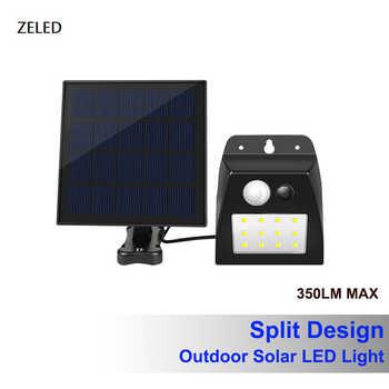 LED Solar Wall Lamp Motion Sensor Outdoor Light Split Installation Waterproof IP65 Pathway Gate Light Durable Wall LED lamp - DISCOUNT ITEM  40 OFF Lights & Lighting