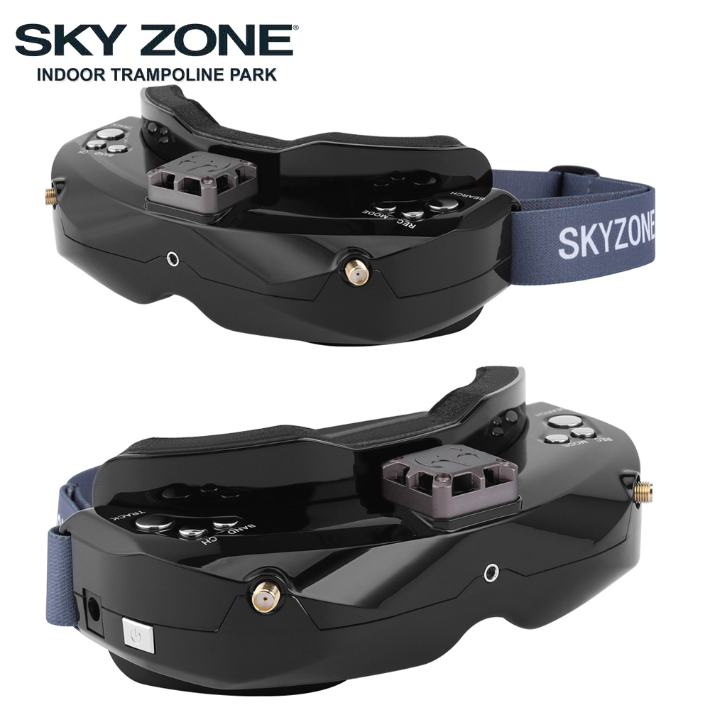 Image 2 - SKYZONE SKY02C/SKY02X 5.8Ghz 48CH FPV Goggles Support 2D/3D HDMI Head Tracking With Fan DVR Camera For RC Plane Racing FPV DroneParts & Accessories   -