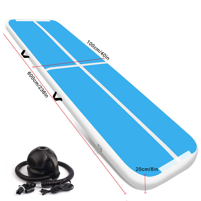 Good Price Air Track 6m Tumble Track Inflatable Air Mat For Gymnastics For Trampoline Parks