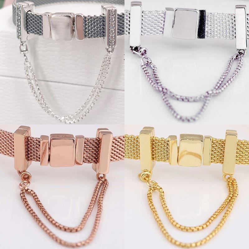 pandora bracelet rose gold and silver