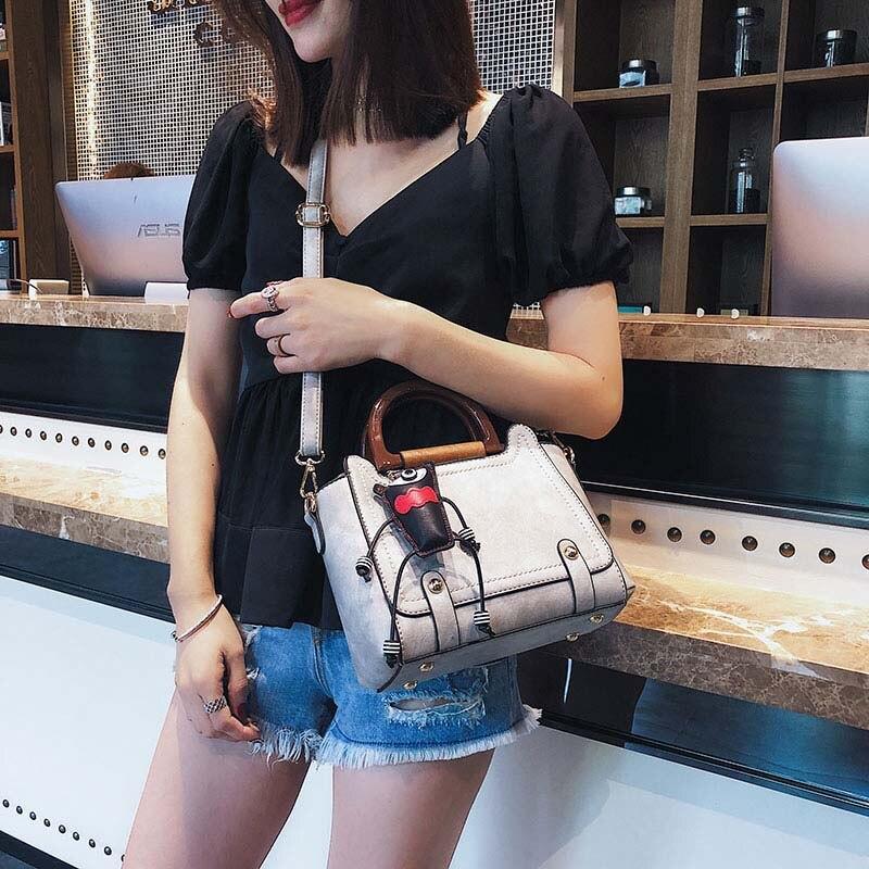 Sacs à main de luxe femmes sacs Designer mignon pendentif Vintage femme 2019 rétro filles sacs à bandoulière dames large sacs à bandoulière YY-07 - 6