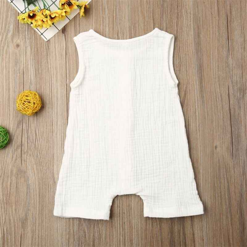 0-24 เดือนทารกแรกเกิดเสื้อผ้าฤดูร้อน 2020 ฝ้ายและผ้าลินิน One Piece Rompers สำหรับเสื้อผ้าเด็กหญิงที่เป็นของแข็ง jumpsuit เสื้อผ้า