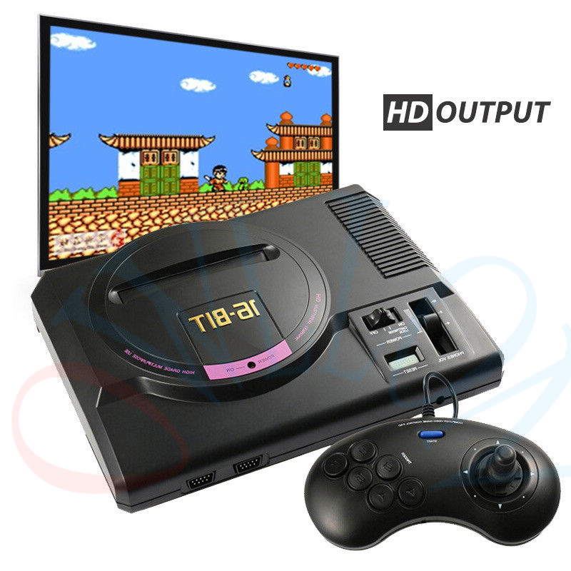 16BIT HDMI Video Game Console SEGA Genesis 126in1 free games High definition with 2.4G wireless controller Real Hardware stereo