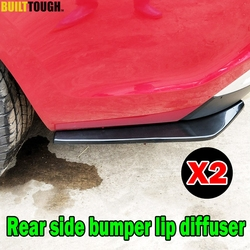 Pair Car Universal Rear Bumper Lip Corner Diffuser Splitter Canard Protector Spoiler wrap Angle Side Skirt Scratch Strap Guard