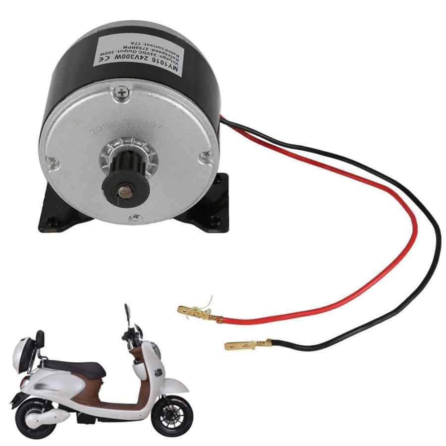 MY1016 24V 300W Aluminium Kleine Borstel Motor Conversie Kit Voor Elektrische Scooter Voertuig Motor Elektrische Fiets Accessoires