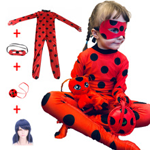 Spandex Cosplay Bug-Costume Halloween Kids Lady Jumpsuit Girls Sets Clothing-Sets Fancy