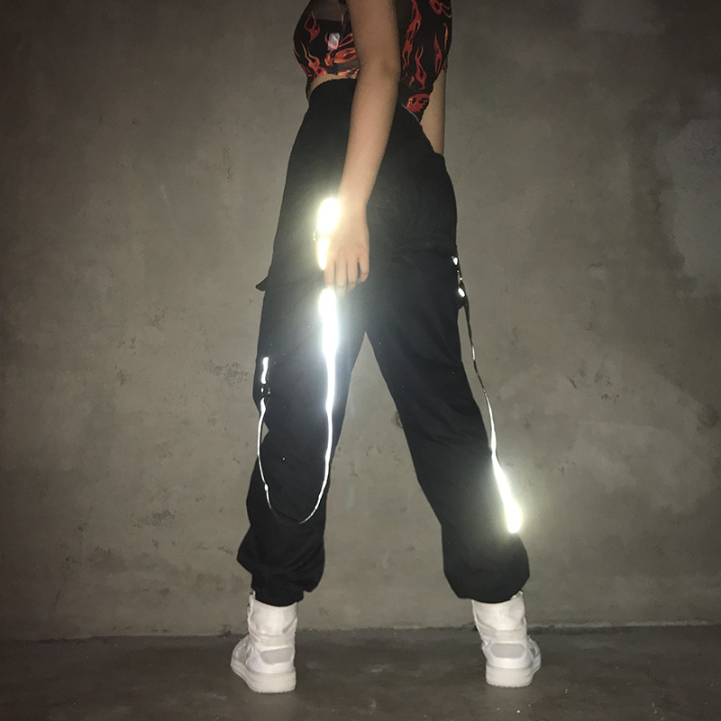 >Fashion Jazz Dance Pants Women Hip Hop Street Dance Dj Ds Rave <font><b>Outfit</b></font> Gogo Dancers Reflected Stage Performance Clothing DC4038