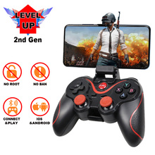 Terios T3 contrôleur de jeu sans fil manette Bluetooth 3.0 Joystick pour téléphone portable tablette TV support de la boîte