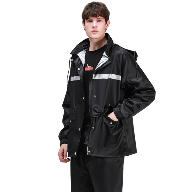 Men Motorcycle Raincoat Rain Pants Suit Adult Thickening Rain Poncho Waterproof Suit for Fishing Rainwear Casaco Masculino Gift