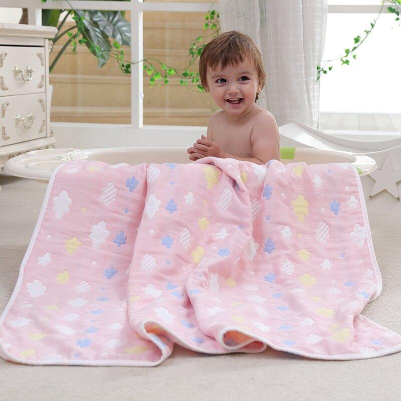 Newborn Baby Swaddle 100% Muslin Cotton 6 Layers Baby Bath Towel Newborn Blankets Bebe Receiving Blankets Infant Wrap 80*80cm