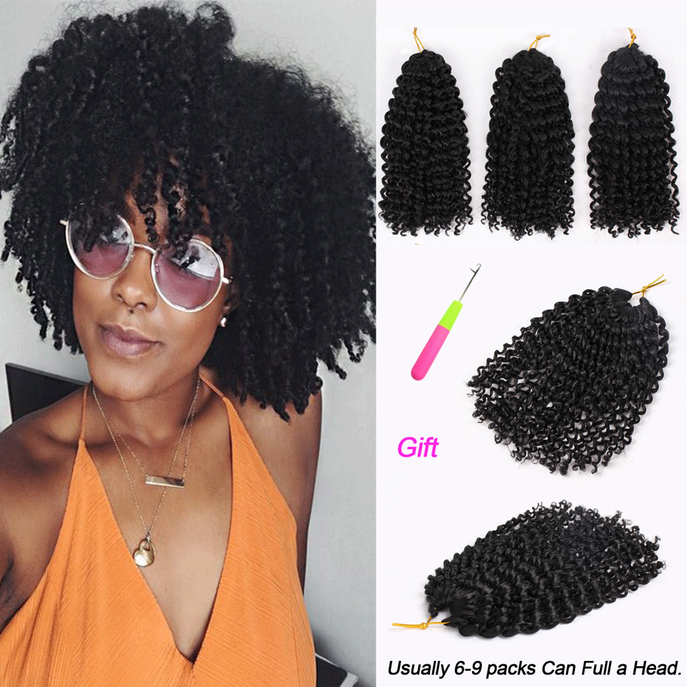 Marly Bob Ombre Hair Extensions Synthetic Marly Jerry Curl Jamaican Bounce Crochet Hair Afro Kinky Curly Crochet Braids