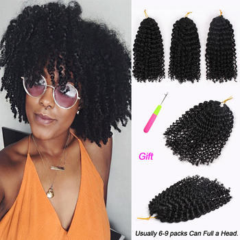 цена на  Marly Bob Ombre Hair Extensions Synthetic Marly Jerry curl Jamaican Bounce Crochet Hair Afro Kinky Curly Crochet Braids
