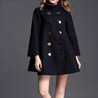 Fashion Plus Size Winter Coat Women Long Wool Coats High Quality Double Breasted Woolen Jacket Poncho Autumn Cashmere Coat Lady