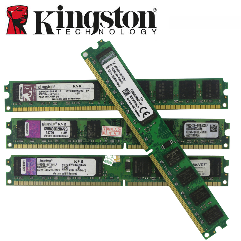 Be Kingston Desktop PC Memory RAM Memory DDR2 DDR3 800 667 MHz PC2 6400 8GB 4GB 2GB 1GB DDR3 1600 1333 PC3-10600 12800