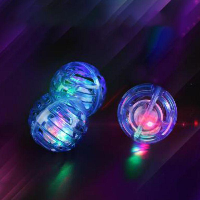 3 piezas gato juguetes interactivos gatito ejercicio luminoso jugar pelota de plástico con campana Para Gatos Productos Para Mascotas