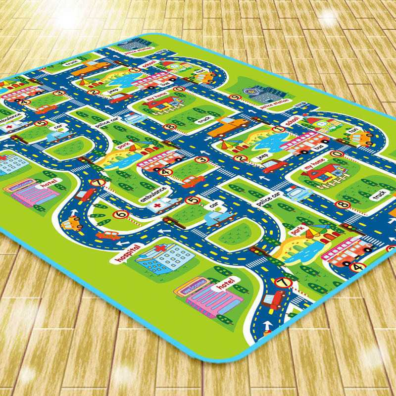 Playmat City Map Car Toys Model Crawling Foam Mat Game Pad Interactive Kids Rug Developing Play Mat Toys For Children