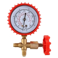 Refrigerant Pressure Gauge Air Conditioning Recharge Pressure Gauges Manifold Gauge Manometer Valve for R12 R502 R22 R410 R134A