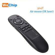 504t 2.4G kablosuz sunum işaretçi hava fare RF uzaktan kumanda Touchpad lazer çok fonksiyonlu PPT projektör bilgisayar