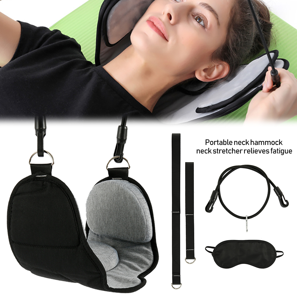 Adulto portátil pescoço conjunto de rede escritório pescoço resto maca alivia viagem espuma memória travesseiro + máscara acessórios pescoço rede