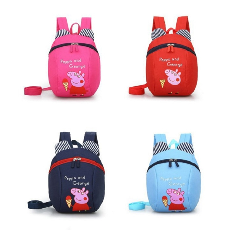 Peppa Pig Toy  Unisex Cute Kindergarten Backpack  Canvas Backpack Cute Peggy Children Crossbody Birthday Gift