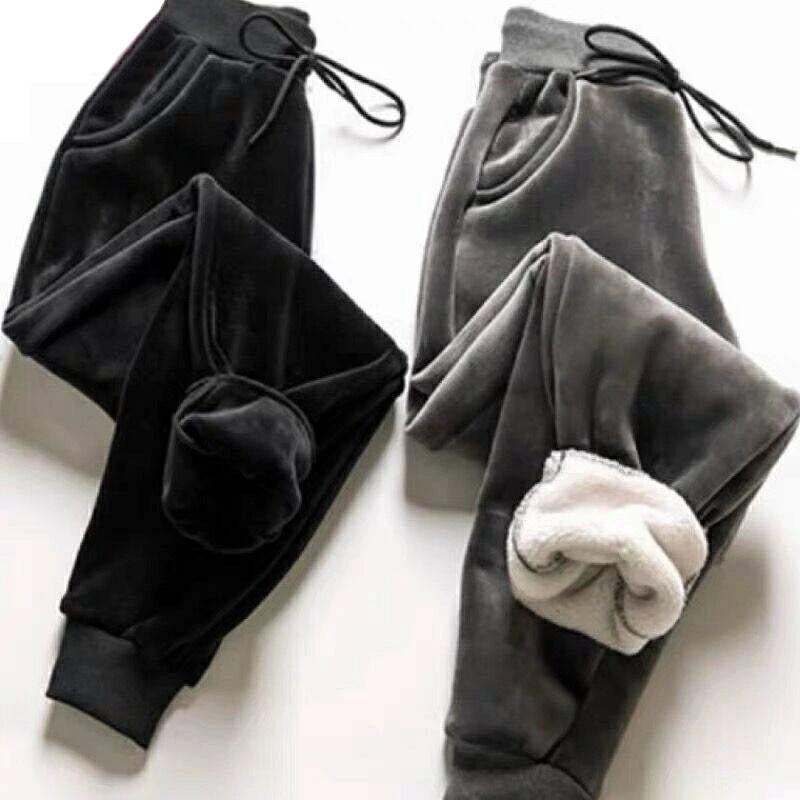 2020 женские зимние кашемировые облегающие брюки с мехом ягненка Женские повседневные теплые брюки шаровары плотные флисовые осенние спортивные брюки