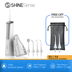 ShineSense SIO200 Oral Irrigator Dental Water Flosser Tooth Cleaner Jet Portable USB Rechargeable Waterproof for Teeth Whitening