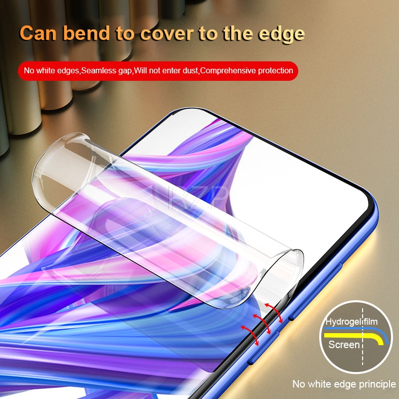 Image 2 - RZP Full Cover Screen Protector For Huawei Honor 9X Pro 9i 10 lite 20 Pro V20 20i Hydrogel Film For Honor 10 9 lite TPU PET Film-in Phone Screen Protectors from Cellphones & Telecommunications