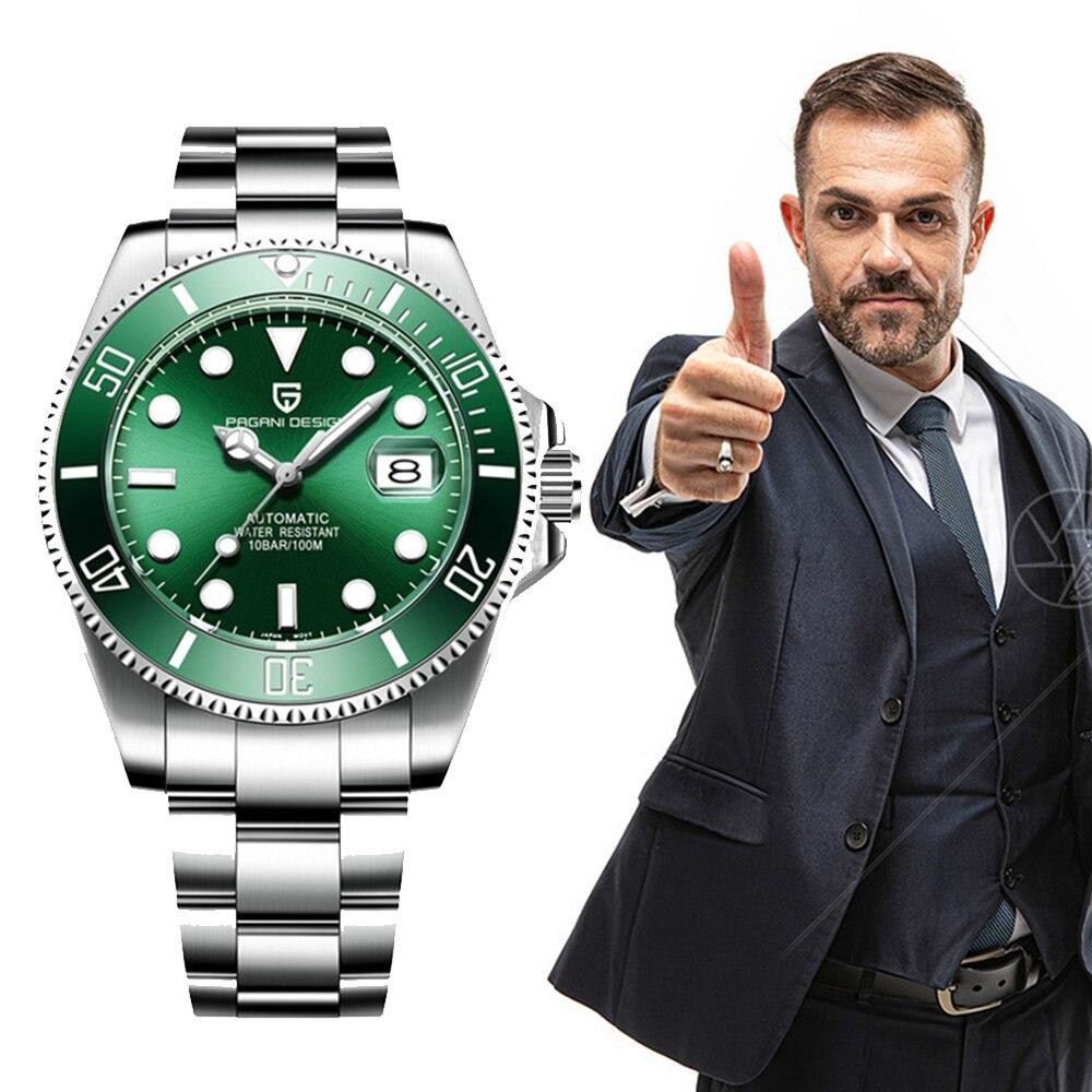 2020 PAGANI Design Mechanical Wristwatch Brand Luxury Men Watches Automatic Black Watch Men Stainless Steel Waterproof Business