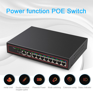 Image 5 - 10 Port POE Ethernet Switch 52V VLAN 10/100Mbps IEEE 802.3af/at Network Switch for CCTV IP Camera Wireless AP 250M Drop Shipping