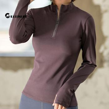 CHRLEISURE Long Sleeve Yoga Shirts Sport Top Fitness Yoga Top Gym Top Sports Wear For Women Push Up Running Full Sleeve Clothes 3
