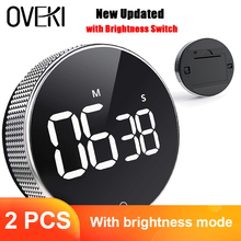 Kitchen-Timer Alarm-Clock Stopwatch Brightness-Switch Magnetic Digital Countdown Cooking