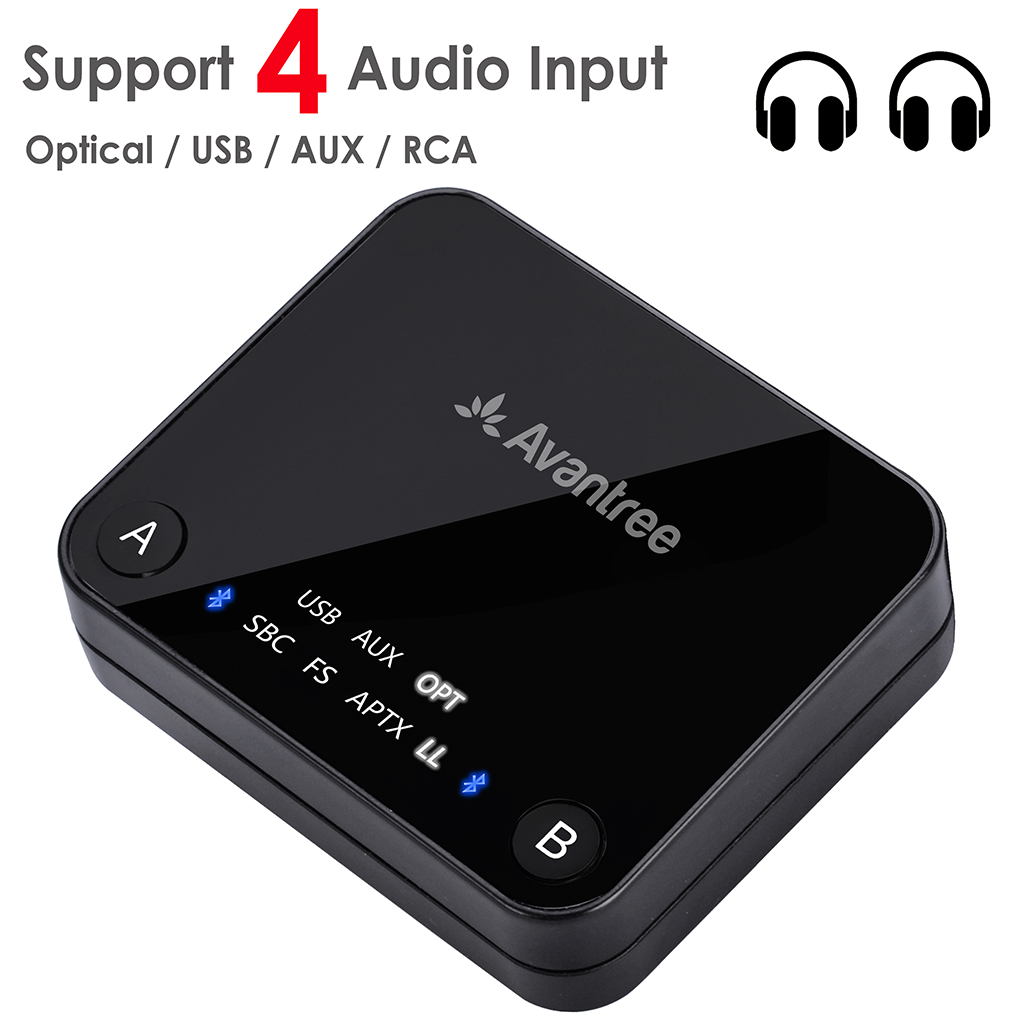 Avantree Dual Link aptX Low Latency supported transmitter with LED, TX Bluetooth Transmitter for TV Bluetooth Audio Adapter-in Wireless Adapter from Consumer Electronics