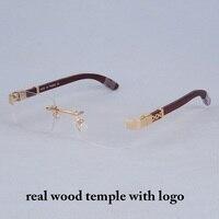 Vazrobe Wooden Eyeglasses Frame Men Gold Glasses Man Rimless Half Full Prescription Spectacles Luxury Brand Eyeglass Wood