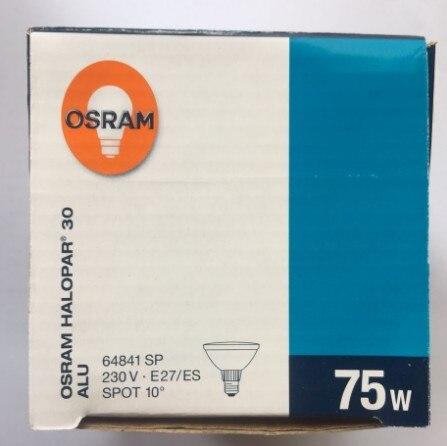 2pcs,OSRAM 64841 SP 230V75W E27/ES PAR30 Halogen Aluminum Reflector Lamp,230V 75W HALOPAR 30 64841SP Bulb