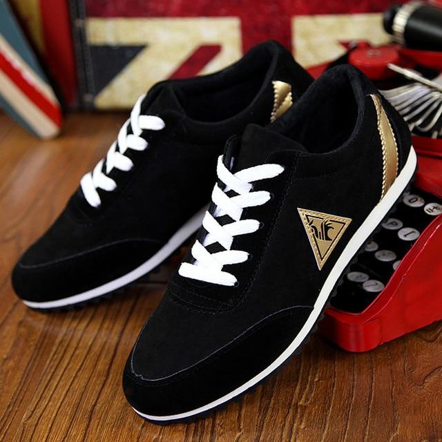 Zapatillas ligeras con cordones para hombre, zapatos informales para caminar al aire libre, planos, Azul, Gris, para trotar, 2020 5