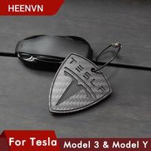 Heenv n – porte-clés en Fiber de carbone pour Tesla Model 3 S X Y, Sculpture, accessoires de décoration, nouveau, 2021