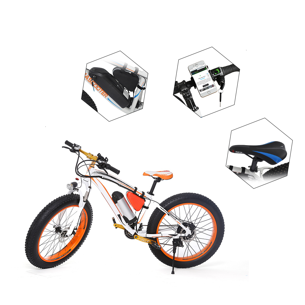 EcoRider E6-5 E6-5 48v 26inch 2 wheel Electric bicycle Big Fat Tire Snow E bike Off Road Bicycle ( Sample Free Postage) 3