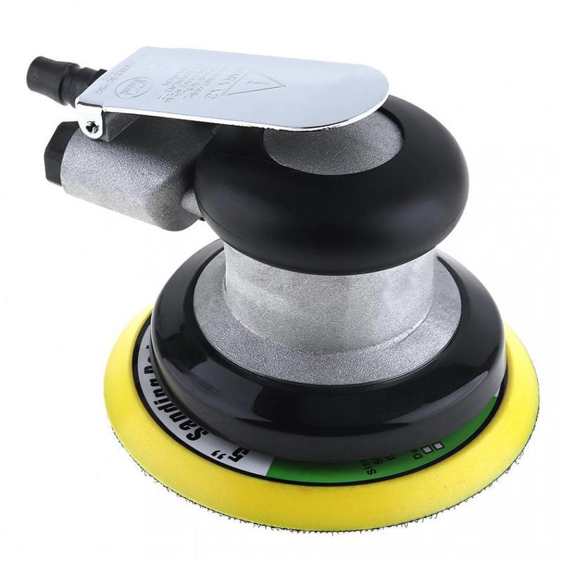 Aletler'ten Parlatıcılar'de 5 inç olmayan vakum mat yüzey dairesel pnömatik zımpara rastgele Orbital havalı zımpara cilalı taşlama makinesi el aletleri title=