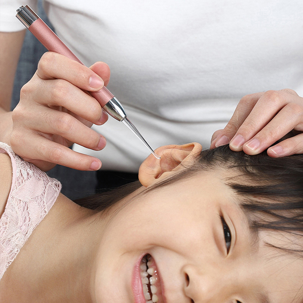 1 Pc Baby Ear Wax Cleaner Flashlight Earpick Earwax Remover Luminous Ear Curette Light Spoon Cleaning Ear Care Tool For Children