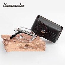 Iboode óculos de leitura dobrável, óculos de leitura de liga dobrável unissex, ultraleve + 0.5 0.75 1.0 1.25 1.5 1.75 3.0